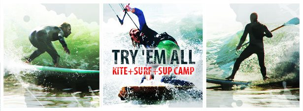 Stand-up paddling, kitesurfin and surfing - learn all at once at ElementFish Portugal