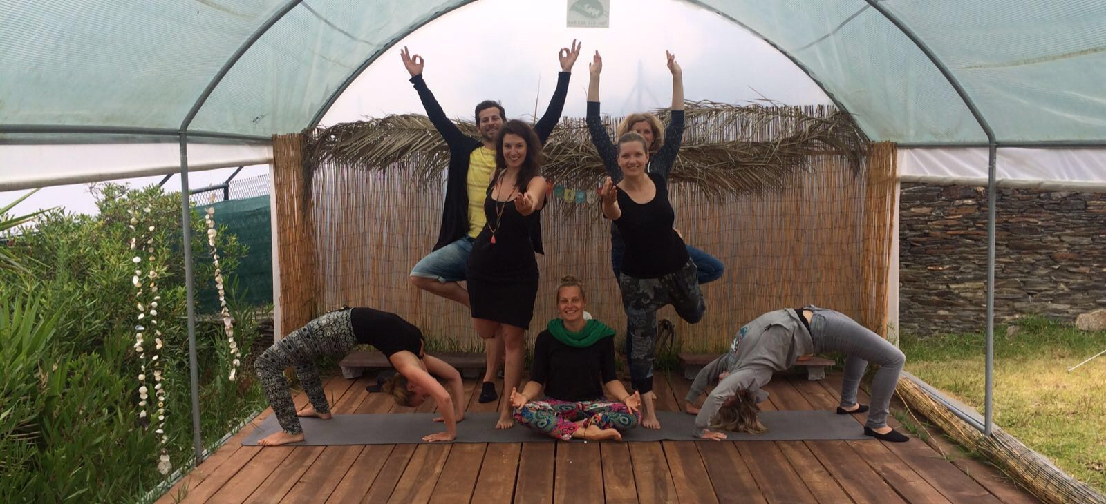 Yoga classes at ElementFish surfcamp, Portugal